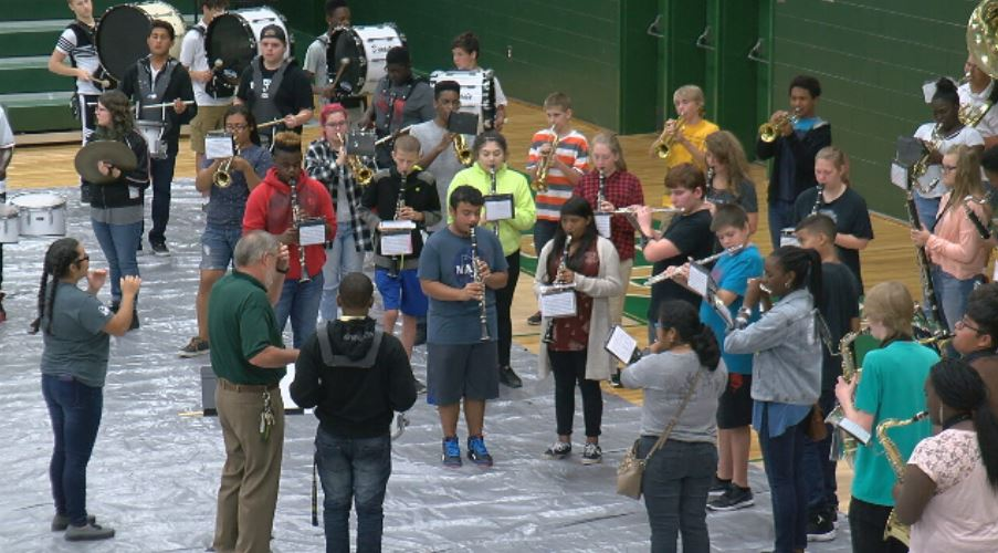 Conway High School's band size has doubled in the past couple years.  Right now there aren't enough uniforms, and the ones they do have are 25 years old. (Amanda Kinseth/WPDE)