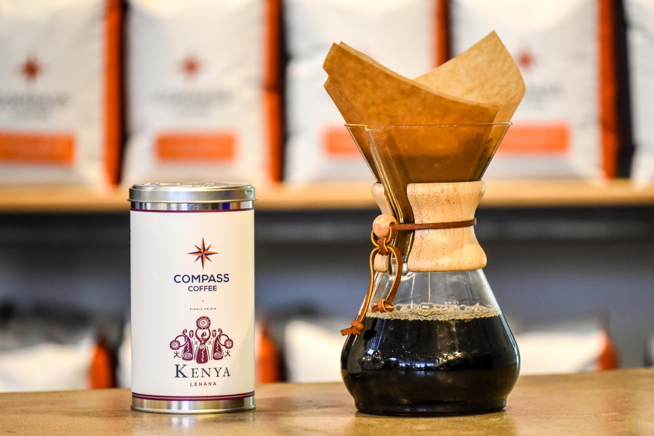 When author Kelly Magyarics' Keurig broke, she used it as an opportunity to explore other coffee-making avenues, such as the world of pour over coffee. (Image: Courtesy Compass Coffee)