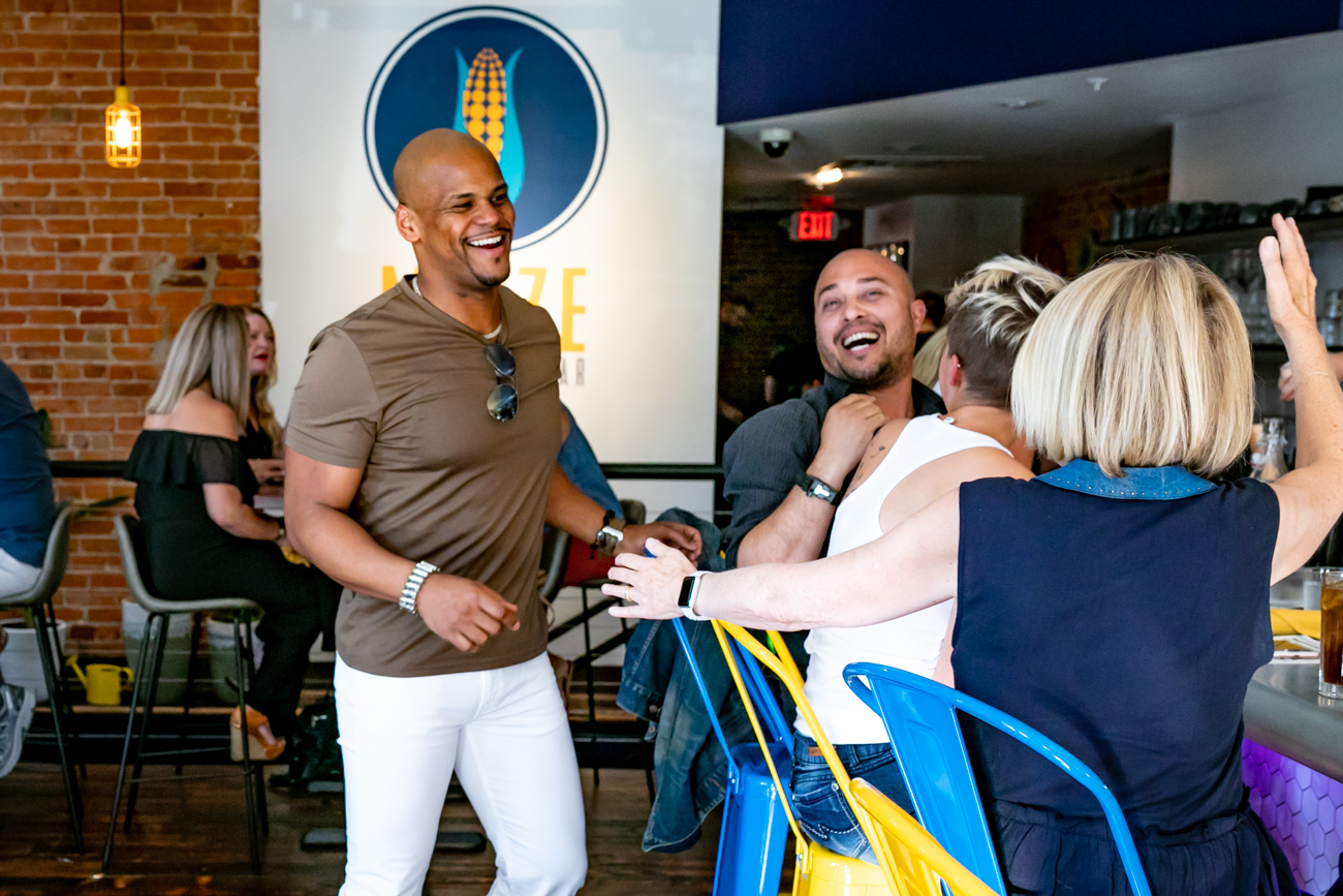 Angel Batista, co-owner, greets diners enjoying the bar area / Image: Amy Elisabeth Spasoff // Published: 8.1.18