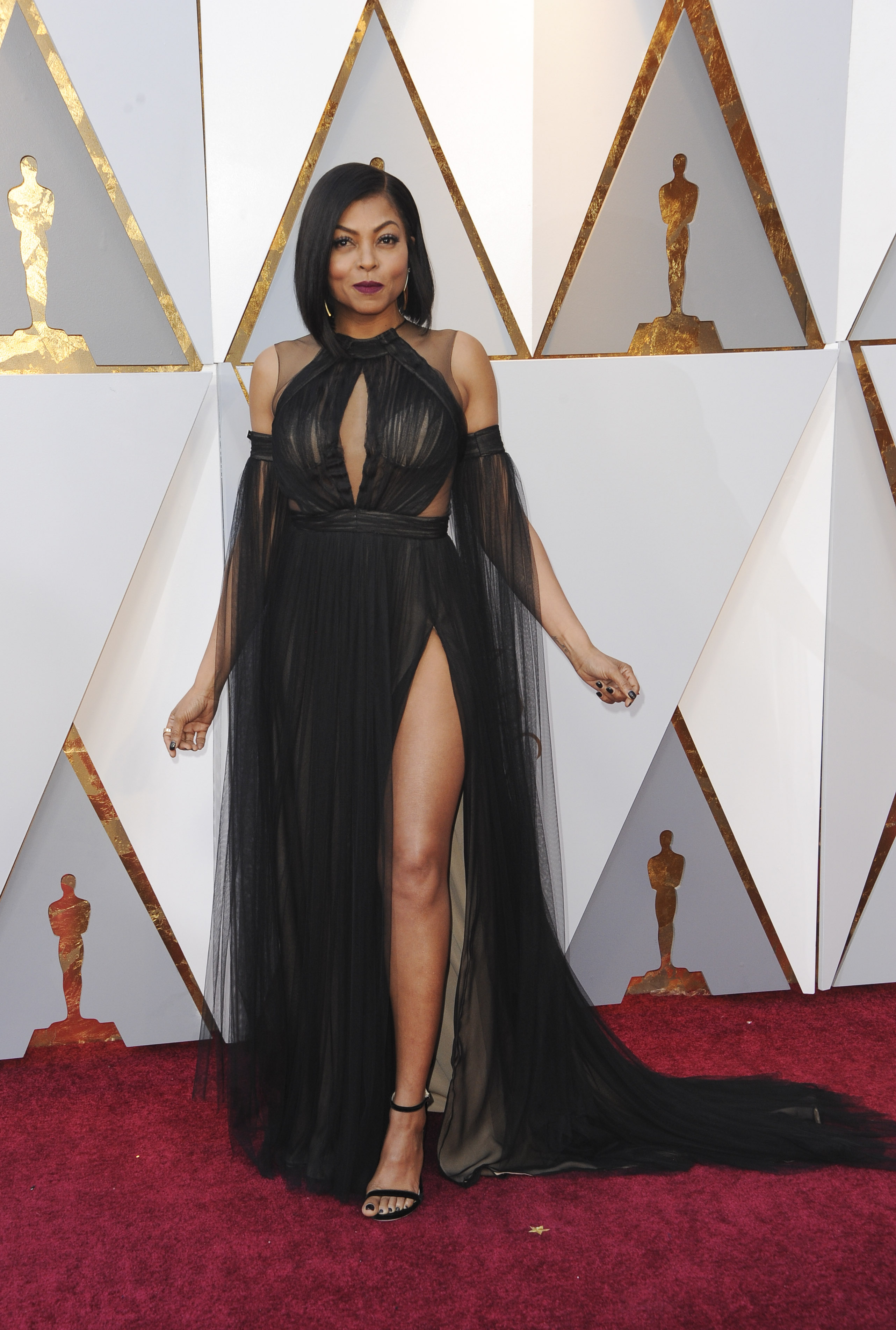Taraji P. Henson{&amp;nbsp;}arrives at the 90th Annual Academy Awards (Oscars) held at the Dolby Theater in Hollywood, California. (Image: Apega/WENN.com)<p></p>