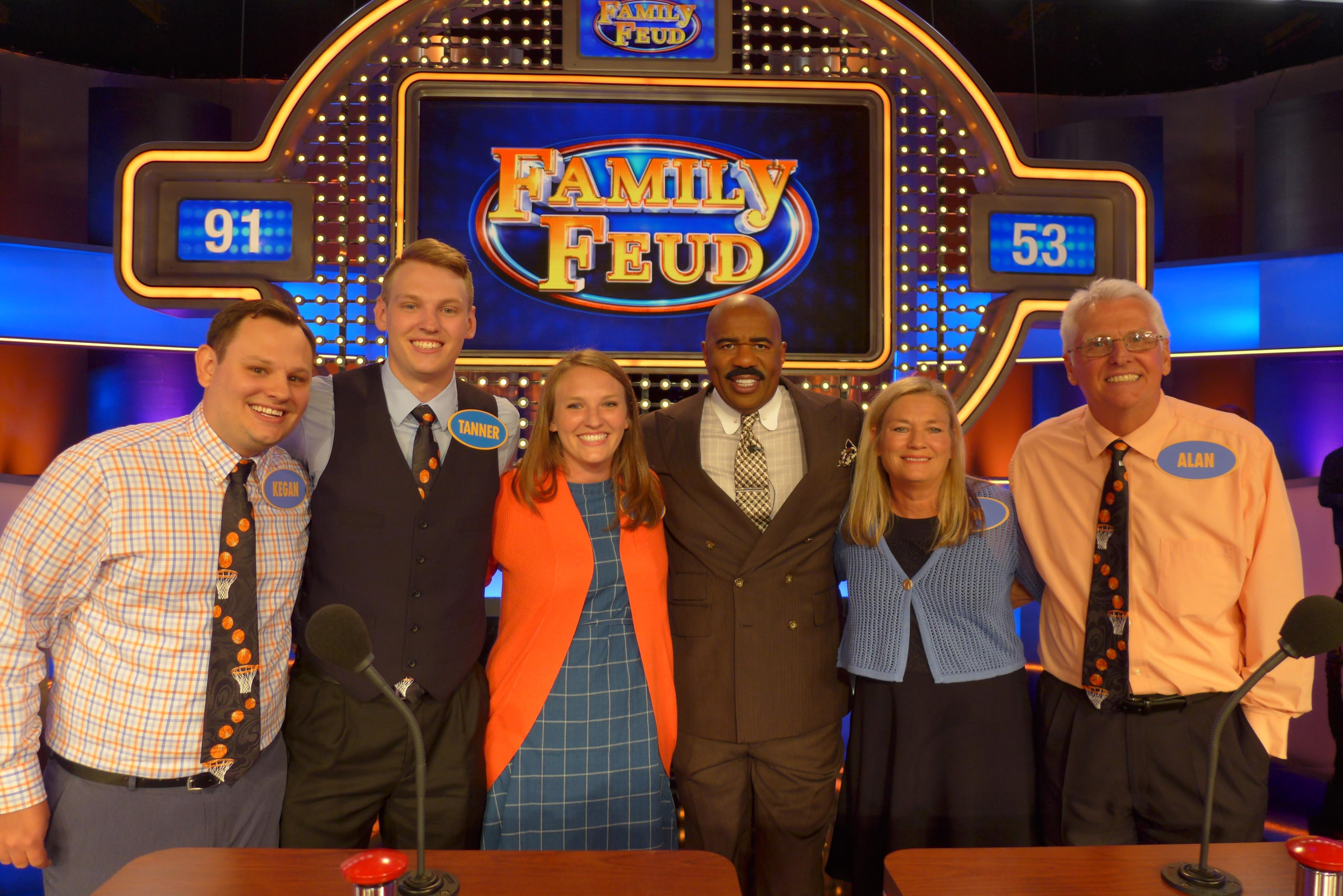 <p>Slinger's Schieve Family to appear on FAMILY FEUD April 22nd at 6:30pm on CW18.</p><p>Photo Credit: Debmar-Mercury</p>