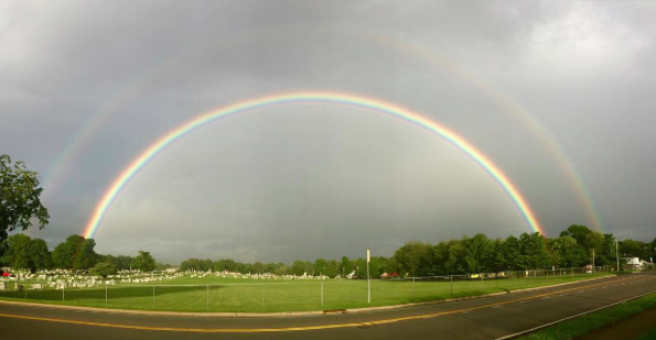 IMAGE: IG user @justadreamart / POST: Mesmerized. I left work a little later than normal and the traffic was backed up on the road I normally take home, which made me go a different route. If all those minute details hadn't happened, I would have missed this stunning double rainbow. #doublerainbow #franklintn #sawtherainbowsend