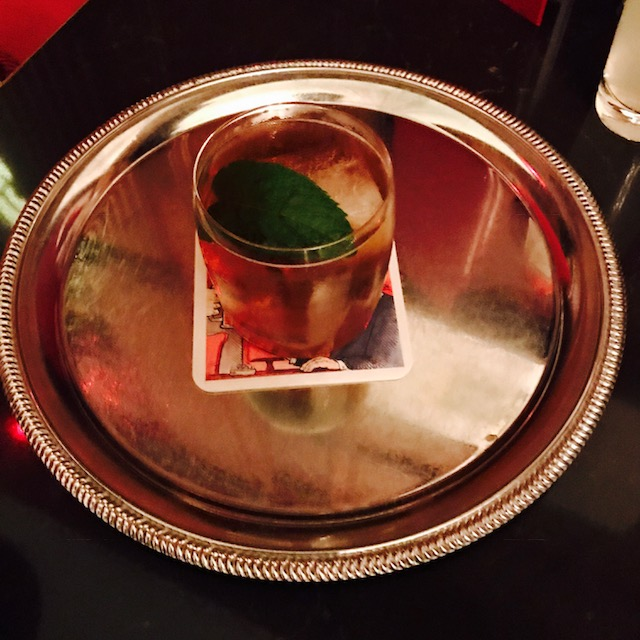 38th Parallel: Ivy City gin, Don Ciccio & Figli Don Ferne, Plume & Thyme simple syrup and tonic water, garnished with a mint leaf (Image: Courtesy The Hay-Adams)