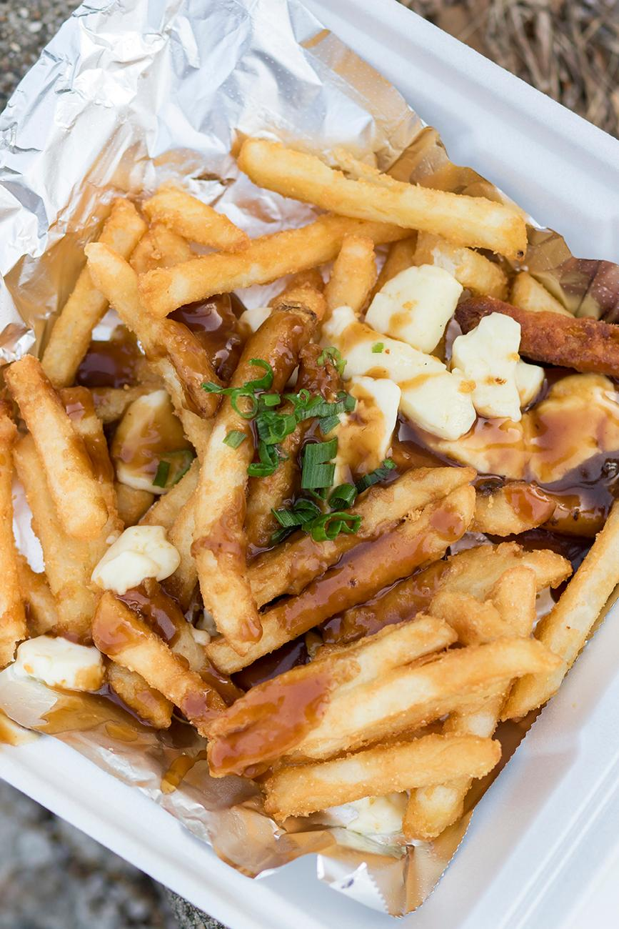 Traditional poutine: french fries, cheese curds, and brown gravy / Image: Allison McAdams // Published: 5.11.19