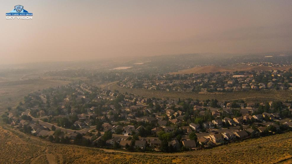 Fire Smoke Surrounds Reno/Sparks & Sky Vision Gives Bird's