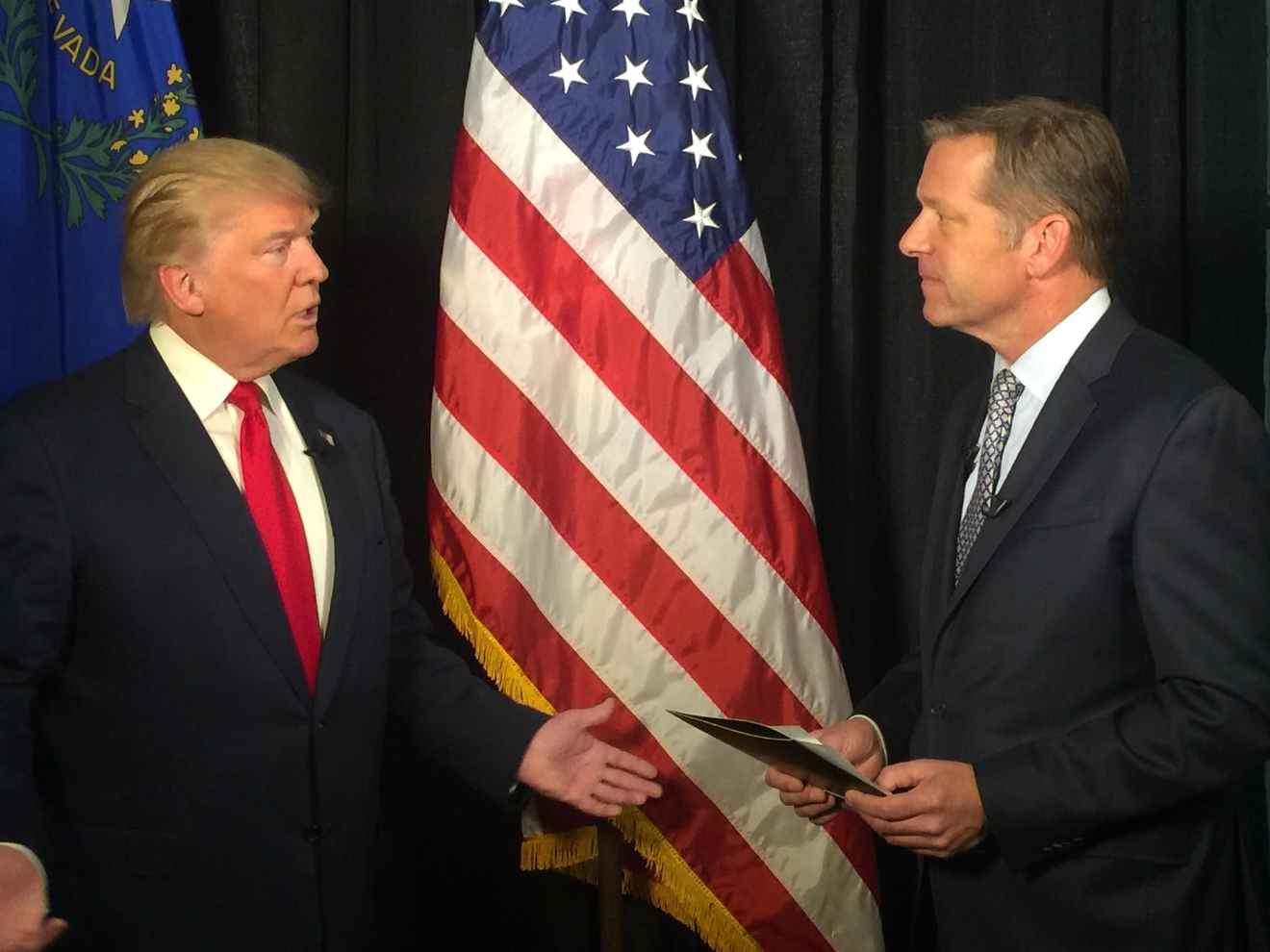 Donald Trump and Jim Snyder 10/5/16 (Adrian Crooks | KSNV)