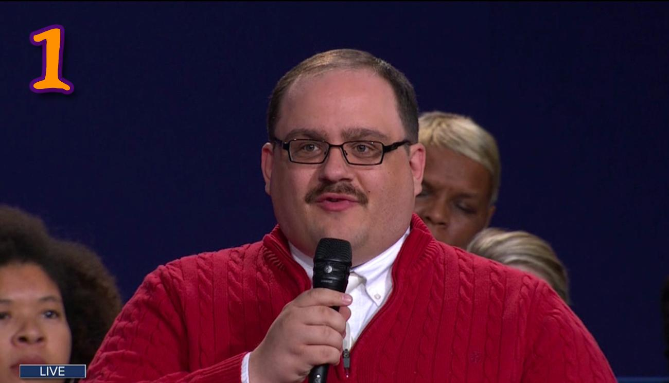 COSTUME: It wouldn't be Halloween 2016 without the most notorious IZOD-wearing, undecided voter meme, Ken Bone. The trifecta of essential items to transition into the #BoneZone include wire frame glasses, a red sweater, and a little fake mustache. BONUS POINTS: if your Bone 'stache is real. / Image: Wenn.com / Published: 10.26.16