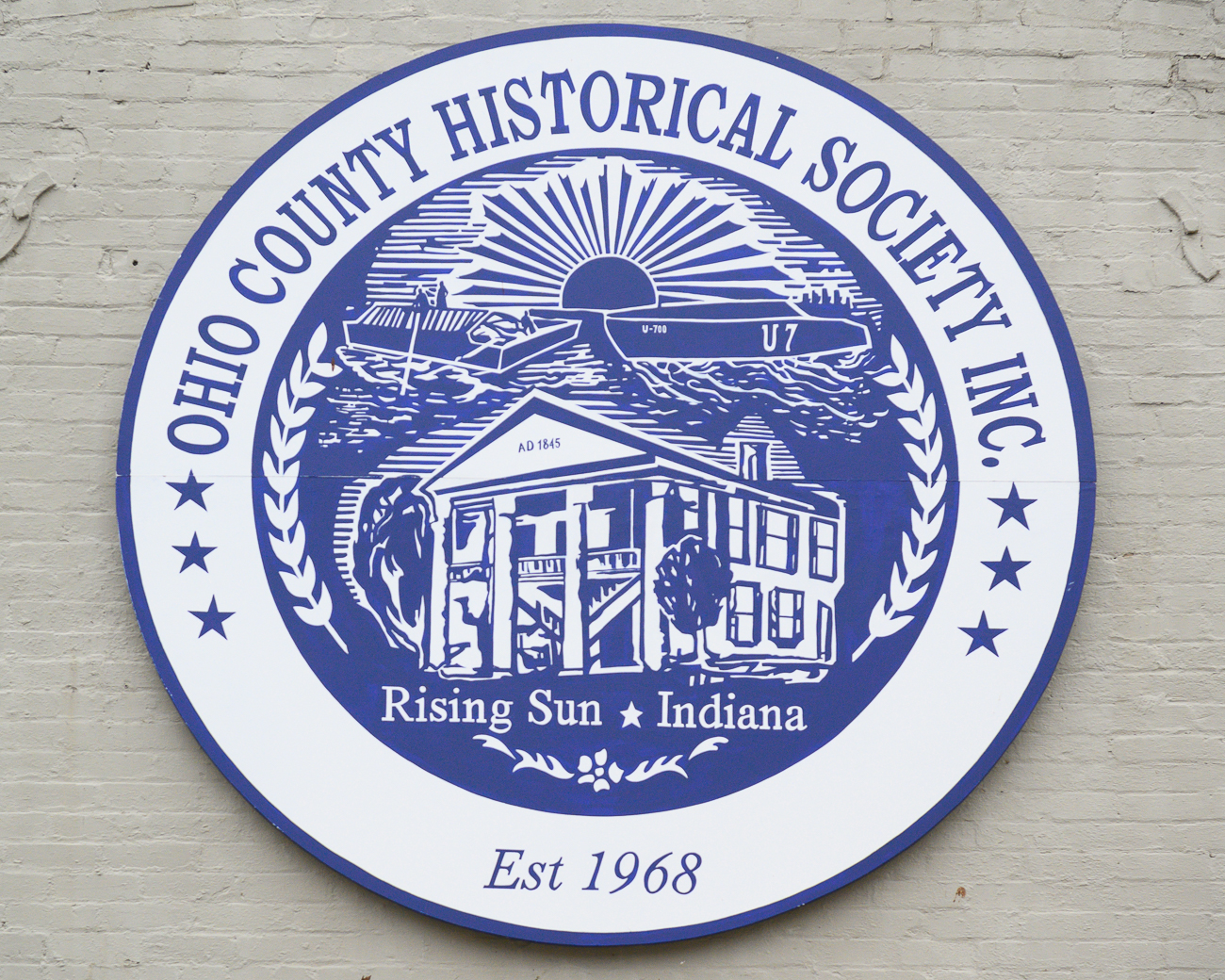 The seal of the Ohio County Historical Society / Image: Phil Armstrong, Cincinnati Refined // Published: 1.7.20