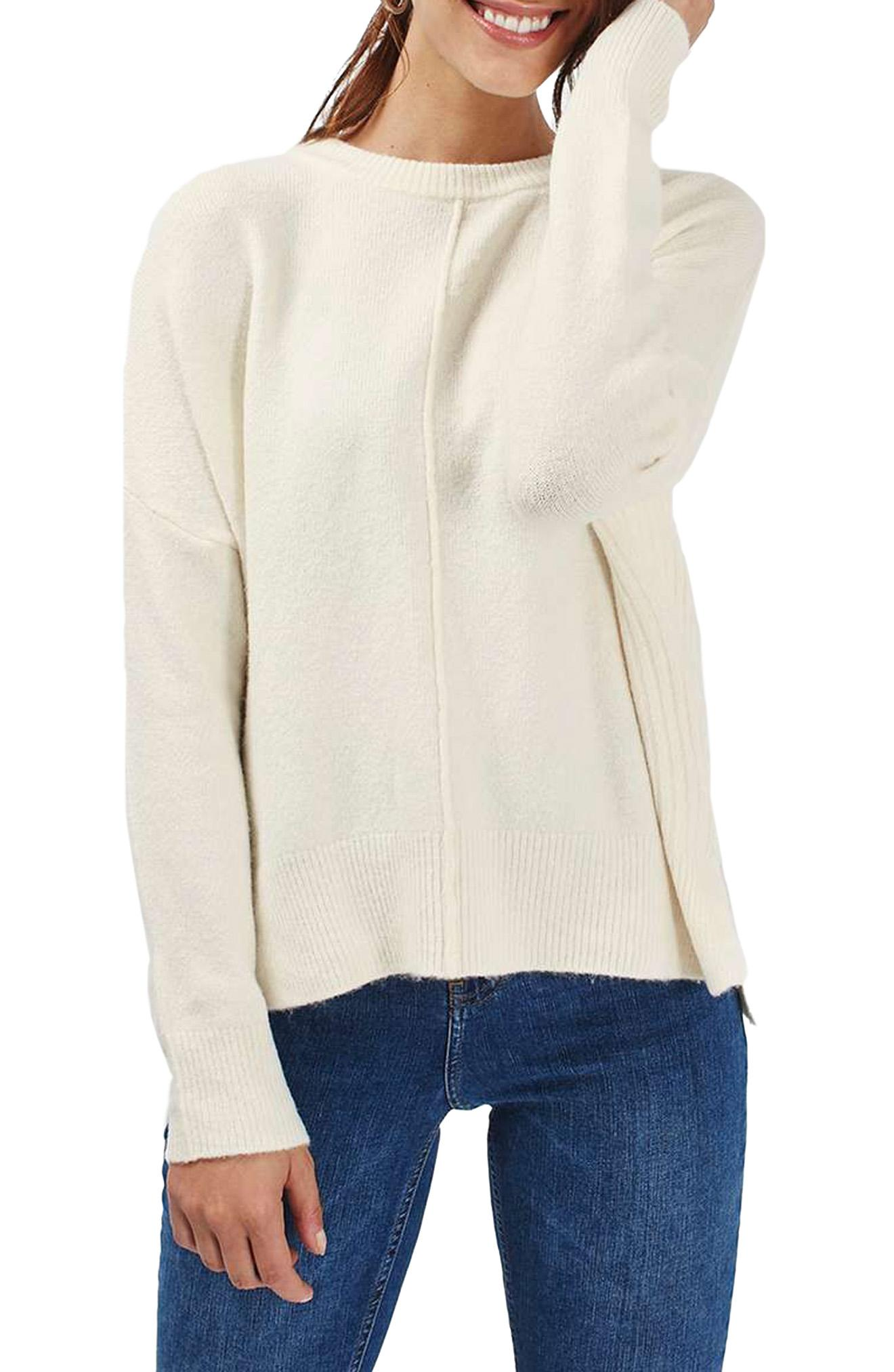 Topshop Zip Side Sweater (Nordstrom)