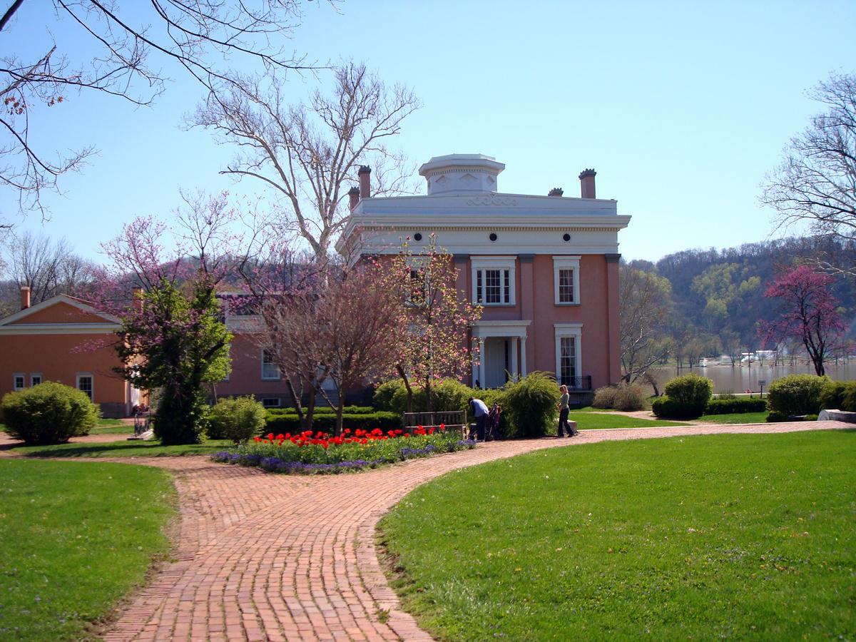 Lanier Mansion in Madison, Ind. The mansion, built in 1844, was home to James Franklin Doughty Lanier. (Image credit: Paige Malott)