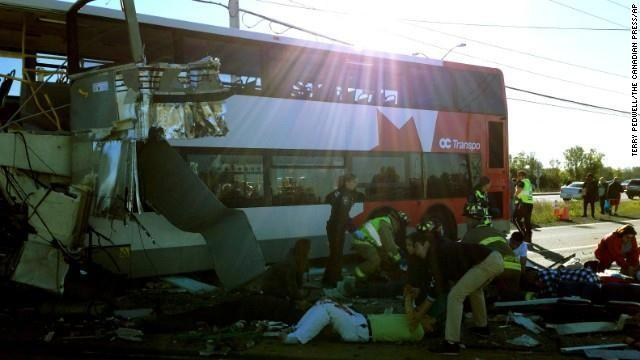 Emergency crews respond to the scene of the crash on September 18.