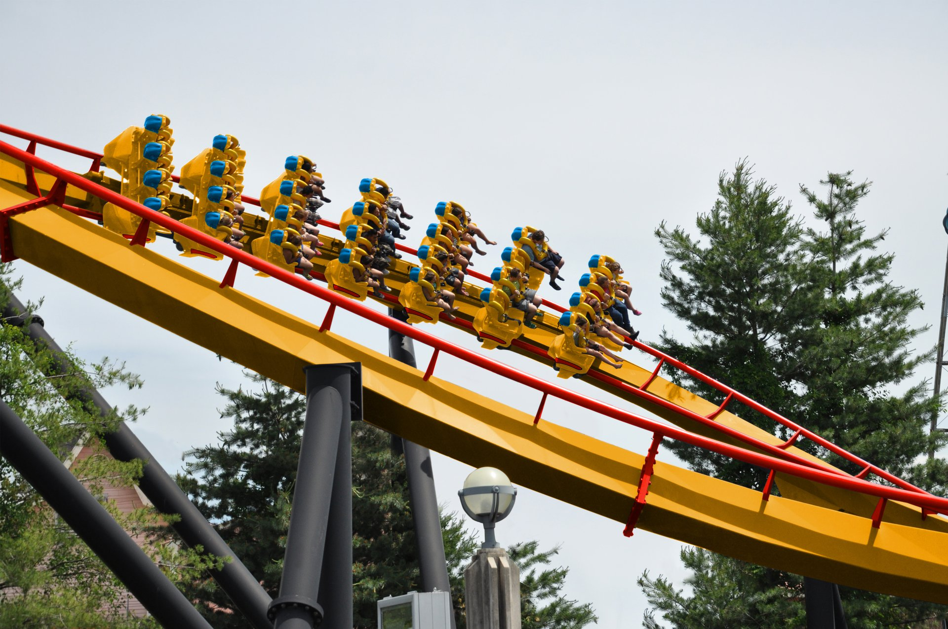 Six Flag America's new Firebird is Maryland's first and only floorless roller coaster.{ } (Image: Courtesy Six Flags America)