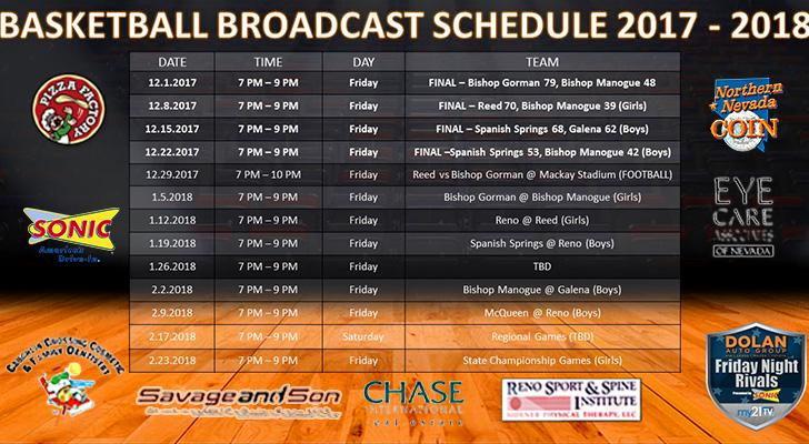 Friday Night Rivals - Basketball Broadcast Schedule and Updated Scores as of Jan. 2, 2018