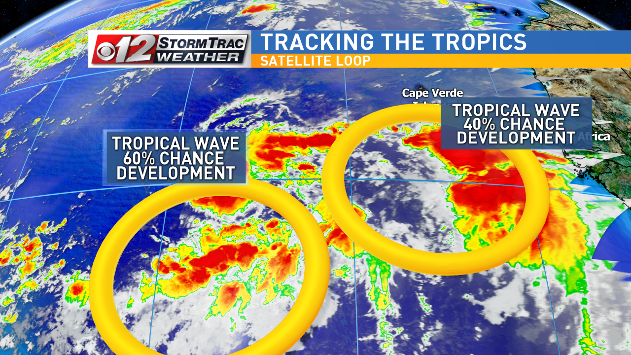 Tracking two waves in the Atlantic. (WPEC)