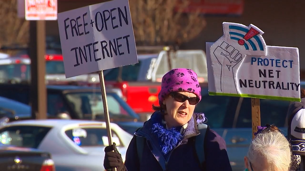 Thousands of people are demonstrating across the country today in front of Verizon stores. On December 14 the Federal Communications Commission will vote on a proposed plan to eliminate net neutrality. (KOMO News)