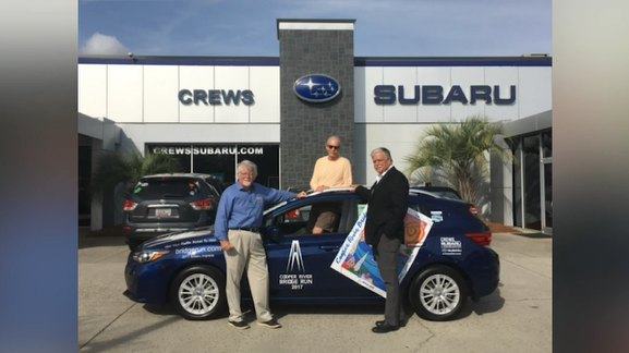 Larry Simon of the Isle of Palms has a new ride. He won a 2017 Subaru impreza.