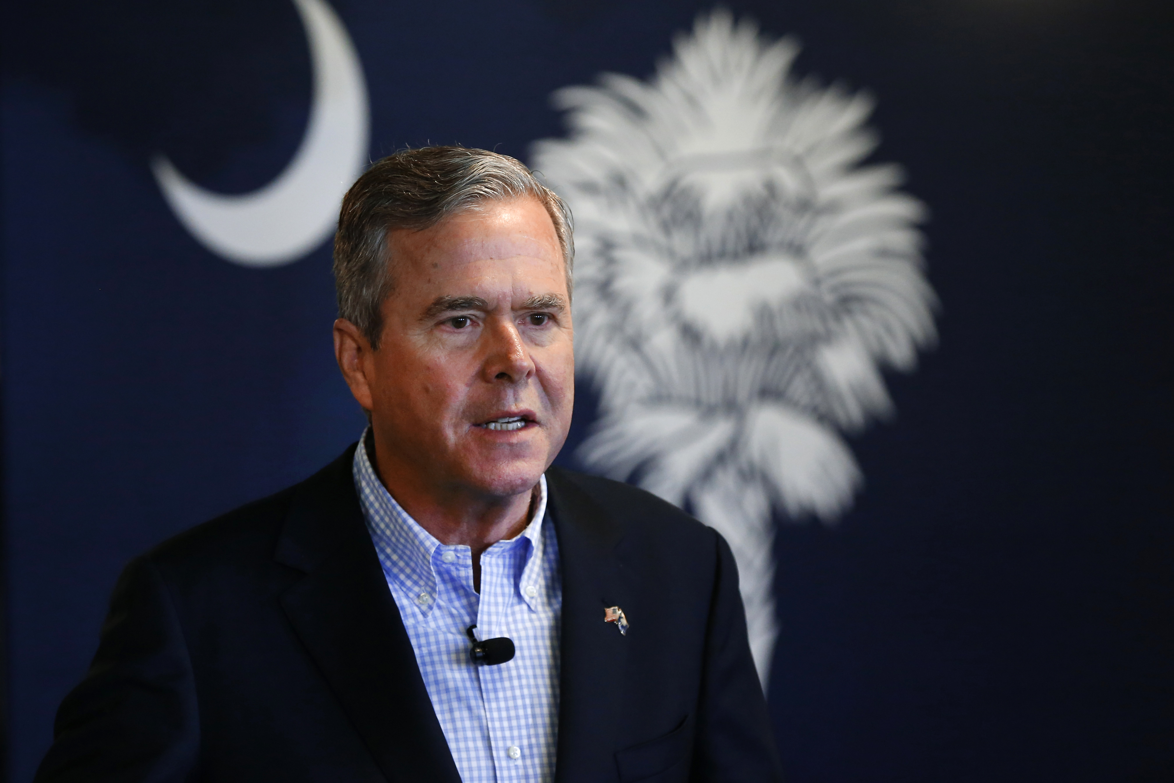 Republican presidential candidate, former Florida Gov. Jeb Bush speaks during a campaign stop at Wade's Restaurant, Friday, Feb. 19, 2016 in Spartanburg, S.C. (AP Photo/Paul Sancya)