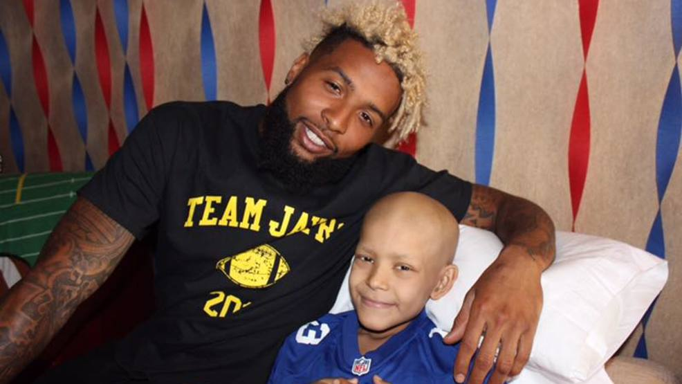 Odell beckham jr wastes no time granting wish of boy battling odell beckham jr wastes no time granting wish of boy battling cancer m4hsunfo