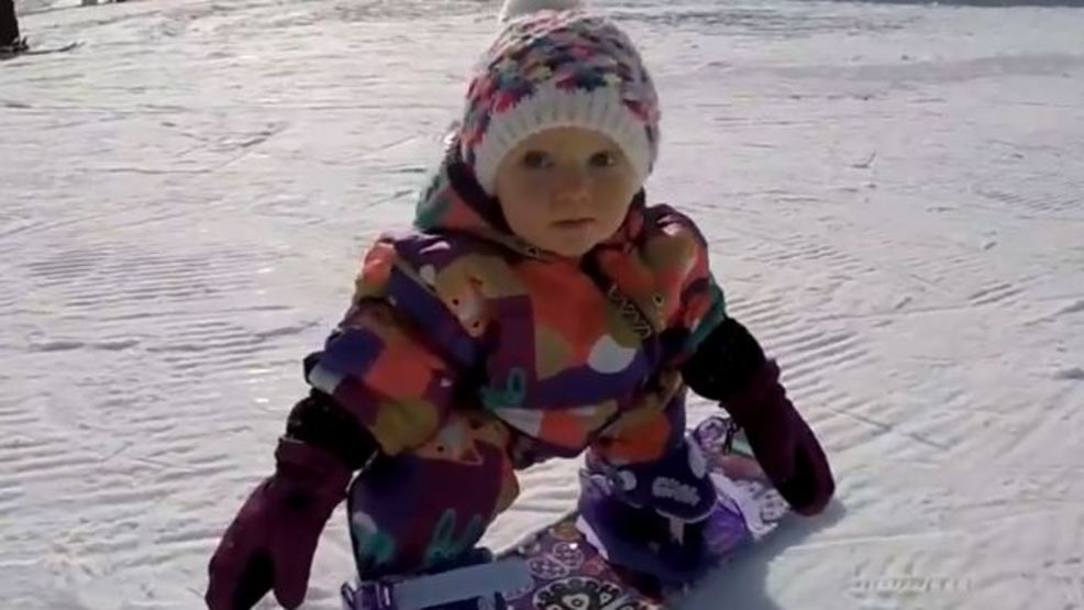 snowboarding baby is a natural on the slopes kutv