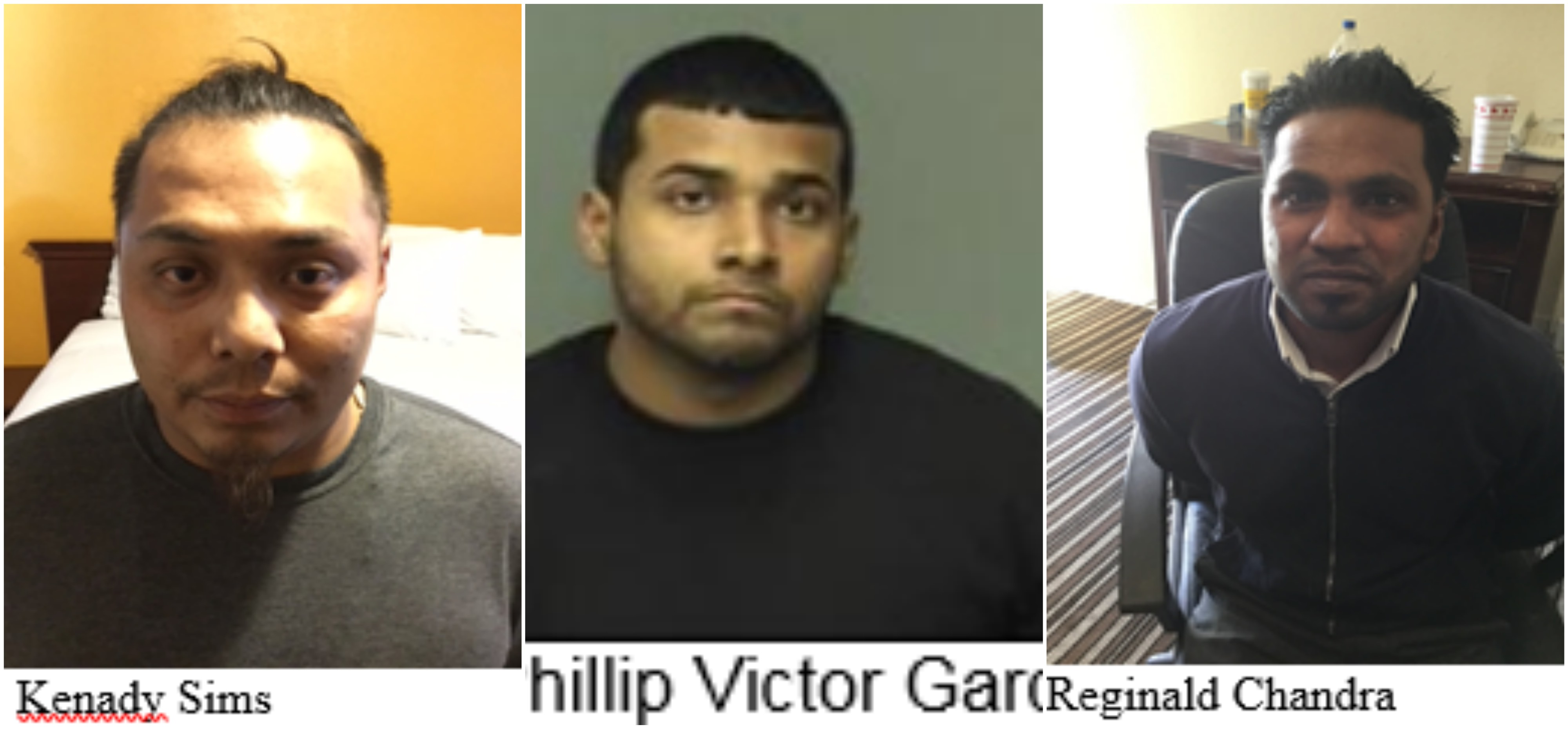 The Merced Police Department has announced that it made several arrests during a 3-day-long human trafficking operation. (Left to Right: Kenady Sims, Philip Victor Garcia, Reginald Chandra)<p></p>