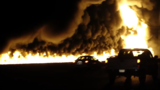 Video: Massive interstate tanker fire, drivers survive