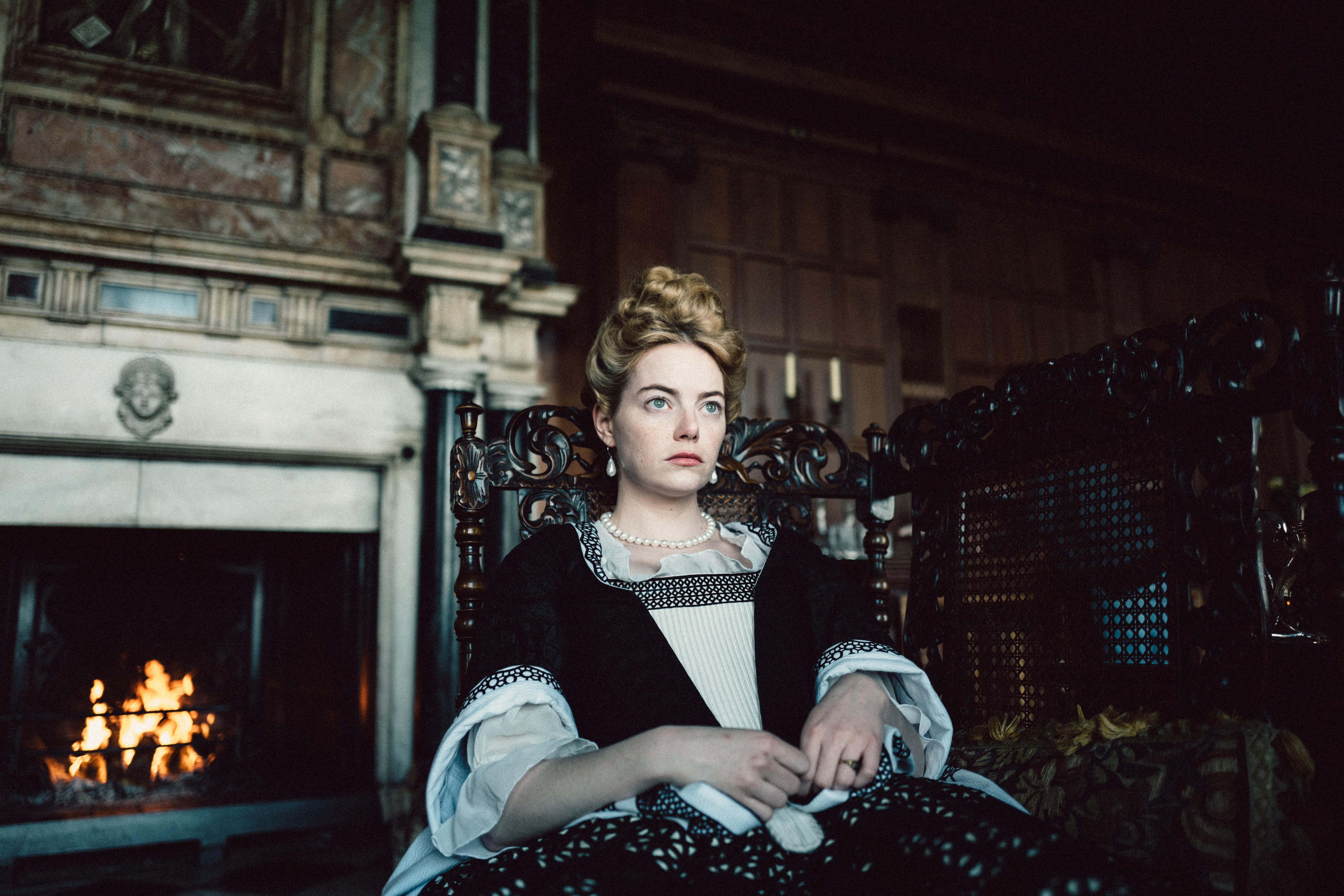 Emma Stone in the film THE FAVOURITE. Photo by Yorgos Lanthimos.{ }© 2018 Twentieth Century Fox Film Corporation All Rights Reserved