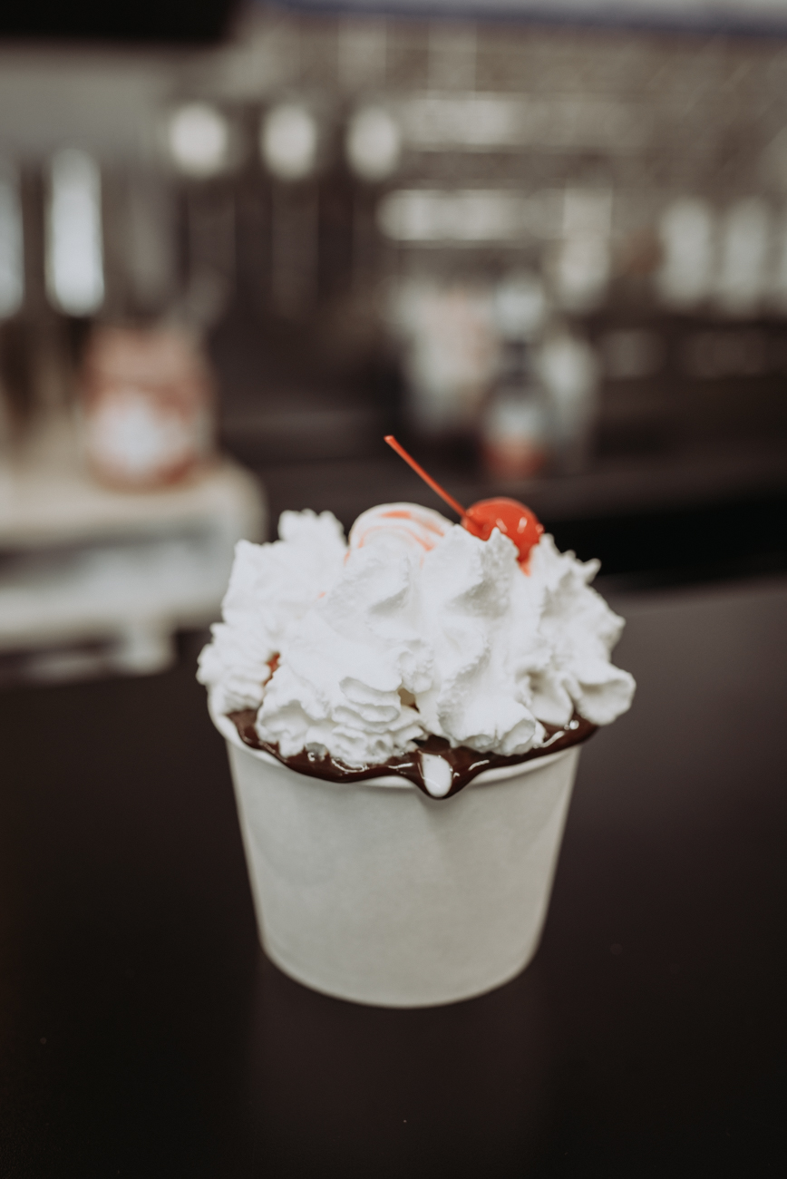 Hot fudge sunday with whip cream and a cherry / Image: Brianna Long // Published 6.11.18