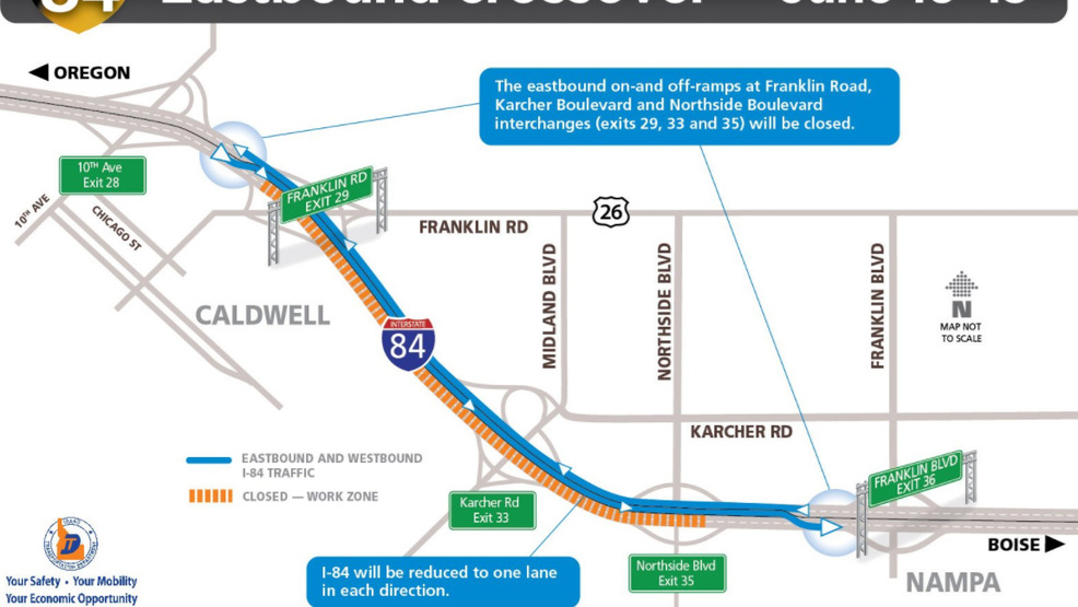 Reminder Interstate 84 To Be Reduced To One Lane In Both Directions