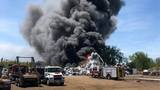 Massive fire at Metalico Rochester in Chili