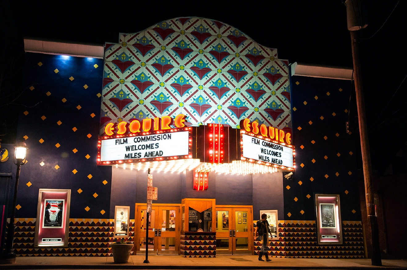 "Every other Saturday night, the Esquire Theatre hosts a viewing/production of ""The Rocky Horror Picture Show,"" as performed by The Denton Affair. / Esquire Theatre is located in Clifton at 320 Ludlow Avenue, 45220. / Image: Melissa Doss Sliney"