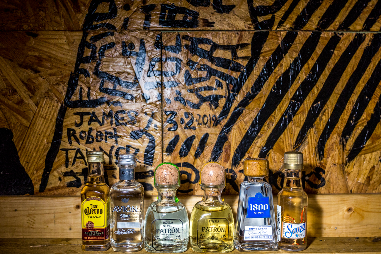 Airplane bottle tequila shots / Image: Catherine Viox{ }// Published: 8.31.19