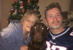 Family reunited with missing dog on Christmas Eve