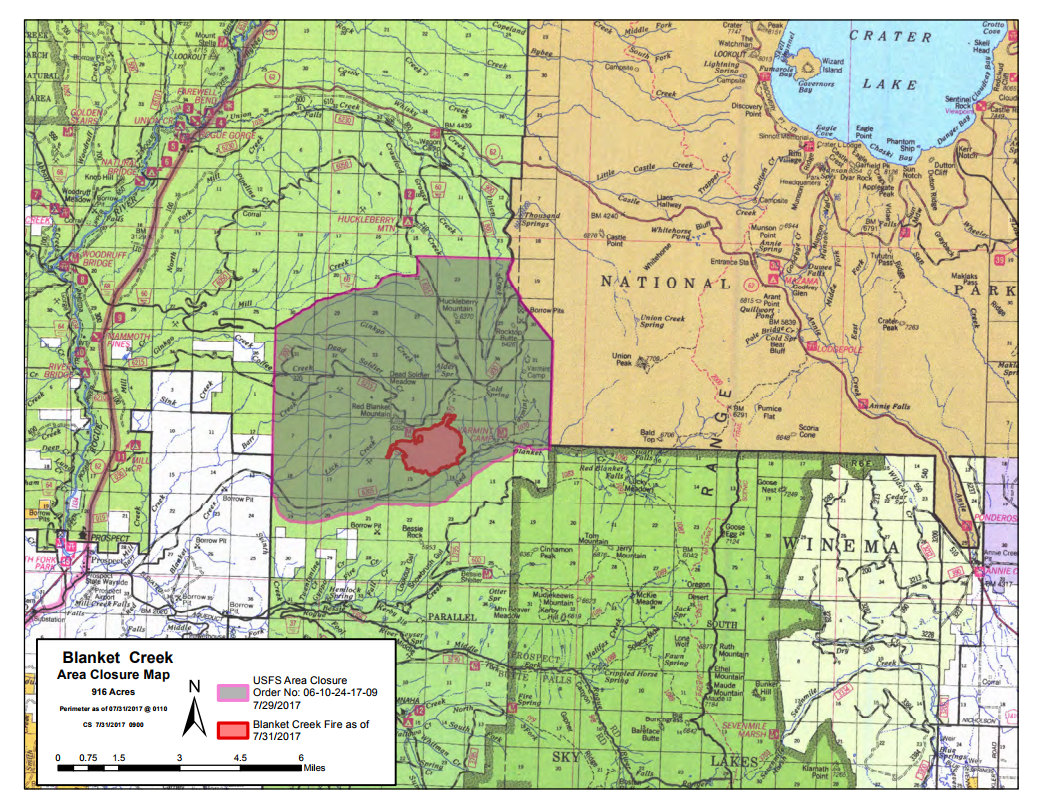 Fire vicinity and closure area