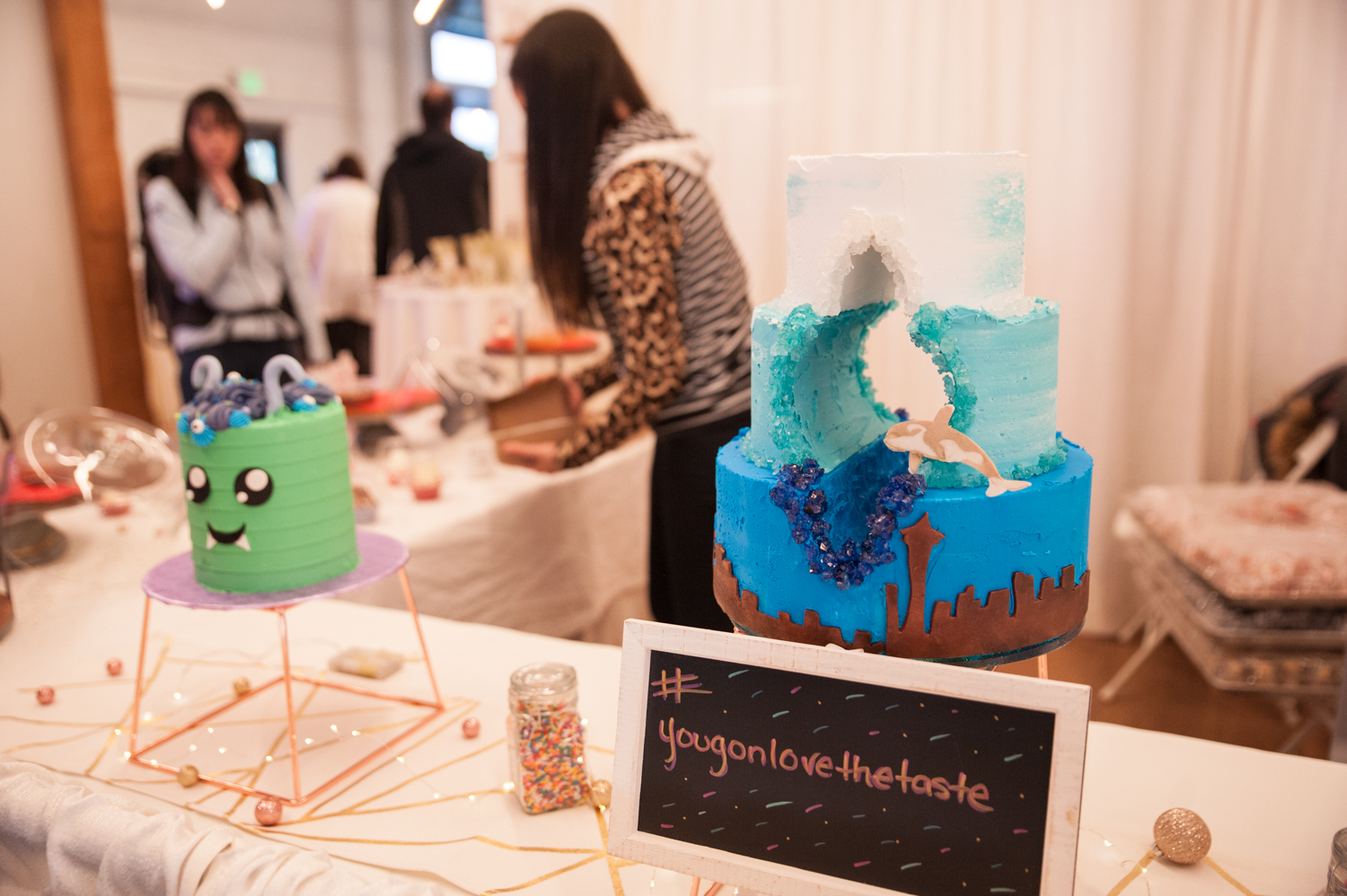 "The Seattle Cake Con & Dessert Showcase 2020 combines talent from around the city and country! Attendees can find a wedding cake baker, chocolatier, doughnut expert - you name it. Cake Con continues Monday, Feb. 17 at Block 41 in Belltown, from 10 a.m. through 5 p.m. Tickets are $25 and can be bought{&nbsp;}<a  href=""https://www.seattlecakecon.com/purchase-tickets-1"" target=""_blank"">online</a>{&nbsp;}or at the door. (Image: Elizabeth Crook / Seattle Refined)"