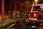 Firefighters battle flames in Providence