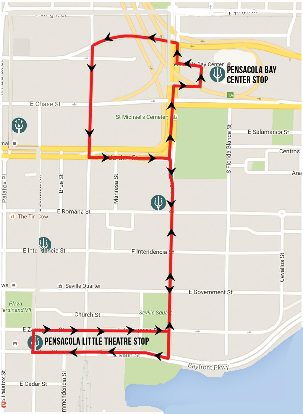 PLT express route. Source: Pensacon