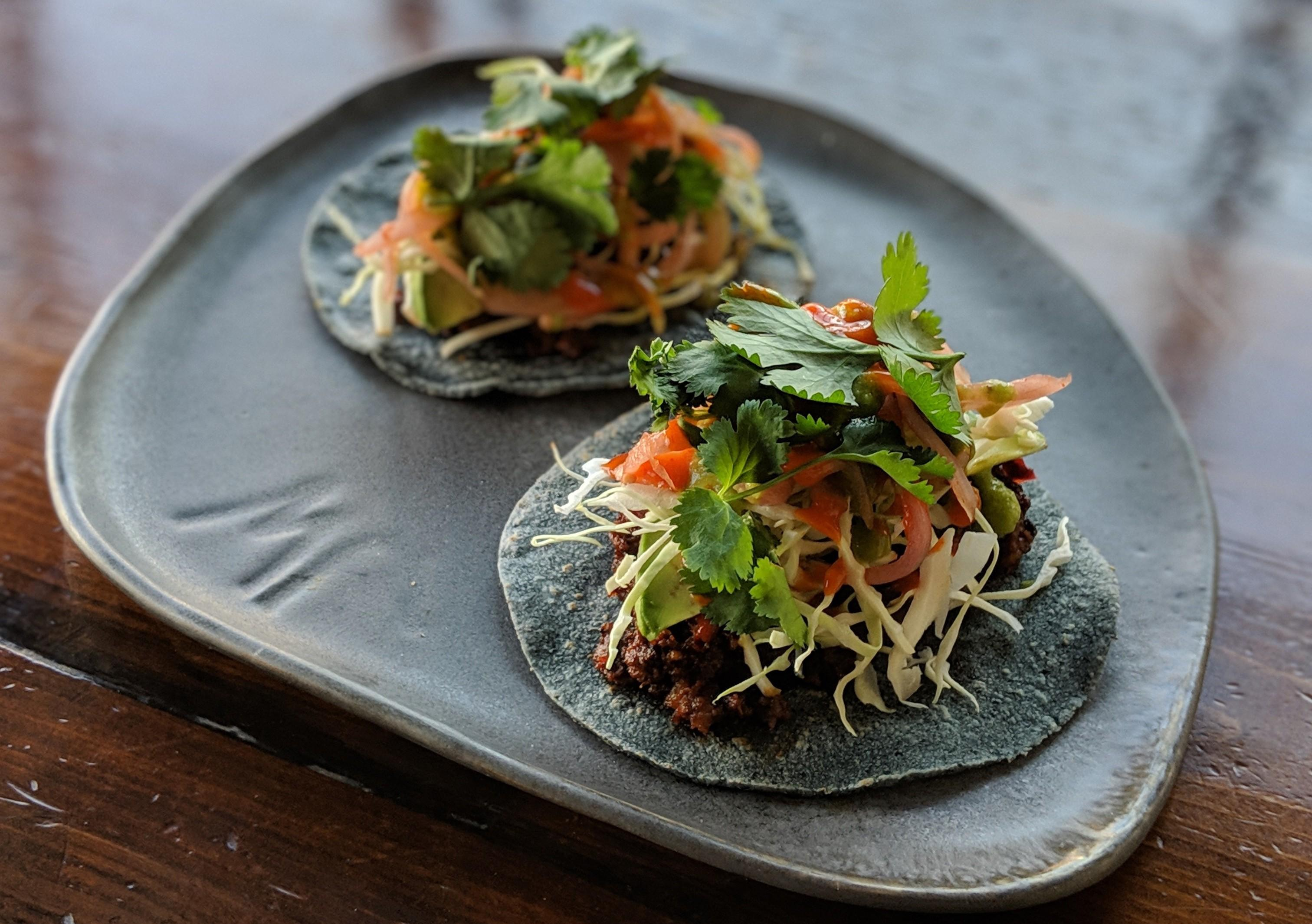 The chorizo tacos at Espita Mezcaleria are currently only available on the lunch menu.{ }(Image: Courtesy Espita Mezcaleria)