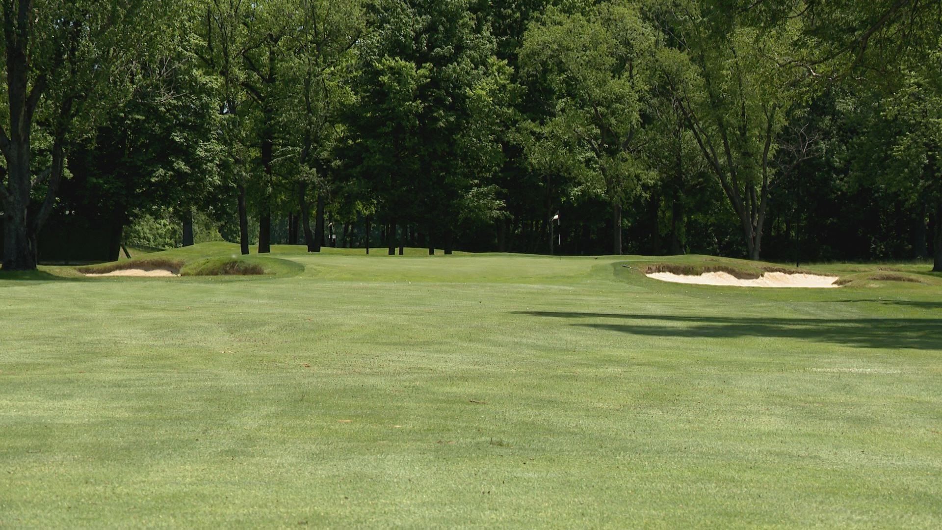 The 6th hole at Warren Golf Course will play as the 18th in the 2019 U.S. Senior Open // WSBT 22 Photo