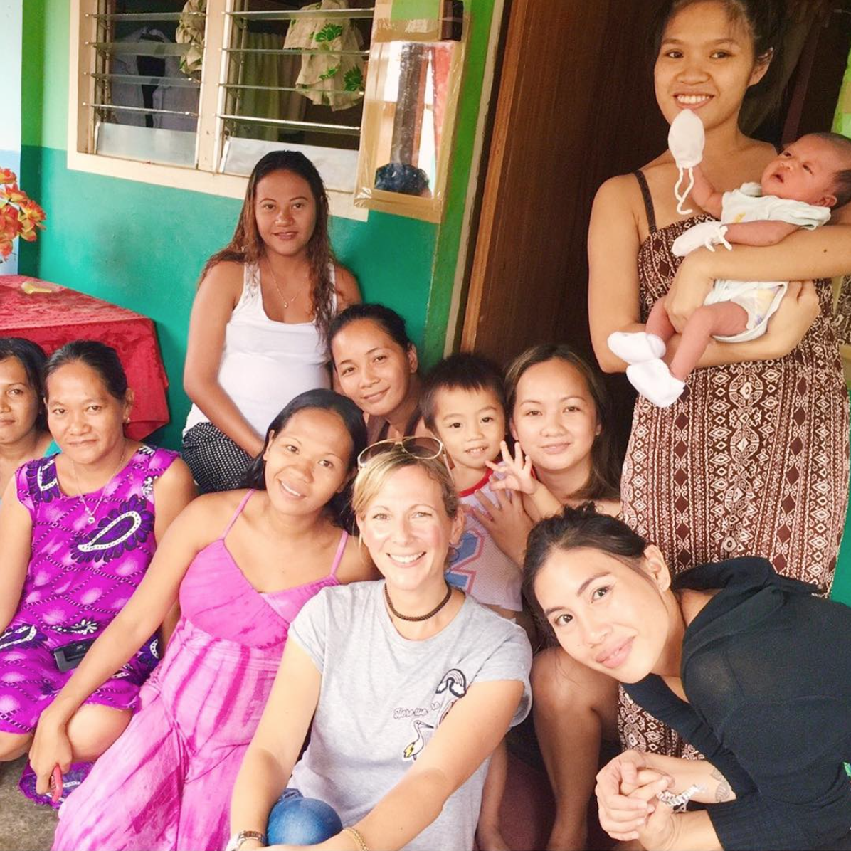 Clare works with talented artisans in The Philippines including the women from the Tacloban area. (Image: Clare Hynes)