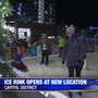 Ice rink opens downtown to help local food banks