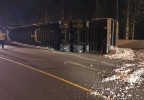 Semi truck hauling shredded paper crashes along I-5 - Oregon Dept of Transportation photo - 1.jpg