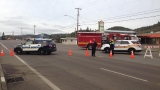 Portion of NE Stephens in Roseburg closed after large gas line hit
