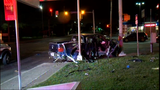 Two drivers run away following crash, leaving injured passengers behind