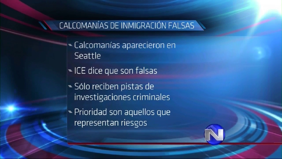 Calcomanías supuestamente de ICE son falsas