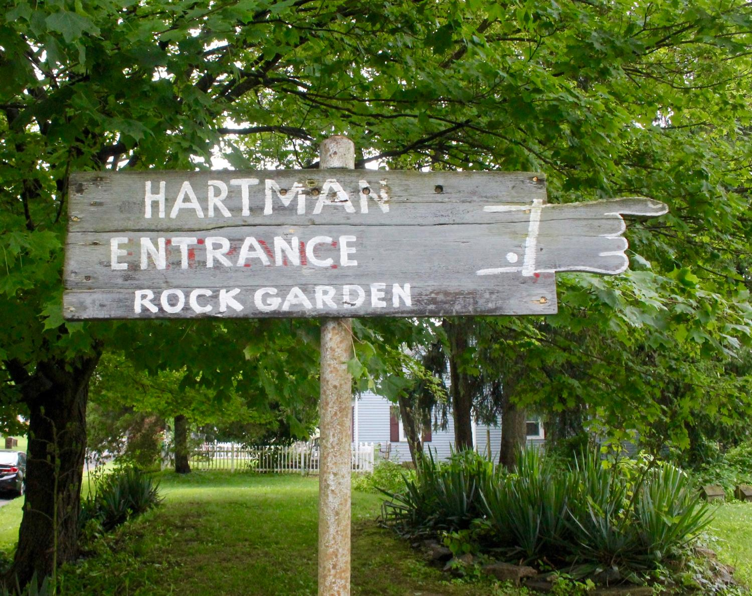 "Hartman Rock Garden, started by Harry George ""Ben"" Hartman in 1932, is a unique garden of stone structures built to represent the themes of history, religion, and patriotism. What started as just a cement fishing pond in Ben's backyard transformed into a work of art containing 50+ structures, a variety of plants, and handmade figurines. Hartman Rock Garden is open 365 days a year from dawn to dusk, and while there is no fee to enter, donations are strongly encouraged to help support the care and upkeep of the garden. It is 80 miles north of Cincinnati. ADDRESS: 1905 Russell Ave, Springfield, OH 45506 / Image: Rose Brewington // Published: 8.8.17"