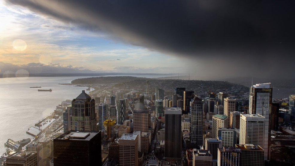 Photos: April showers make for dramatic skies around Western Washington