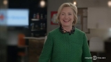 #Yasss: Hillary Clinton winks, makes light bulbs explode in grand 'Broad City' entrance