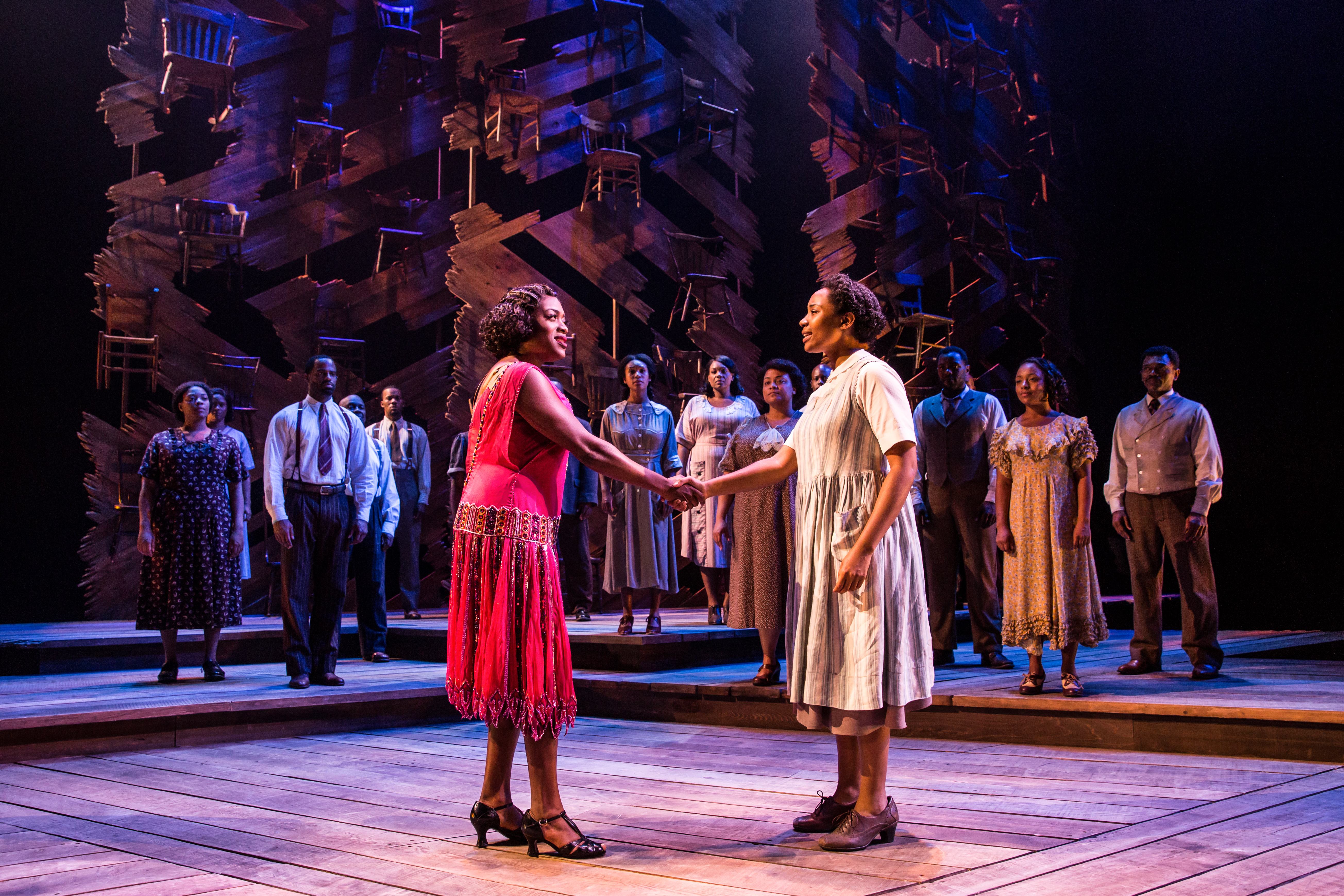 The Color Purple, the 2016 Tony Award winner for Best Musical Revival, is playing at the Kennedy Center through August 26. (Image: Matthew Murphy)