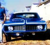 Williams with his 1969 Chevy Camaro.