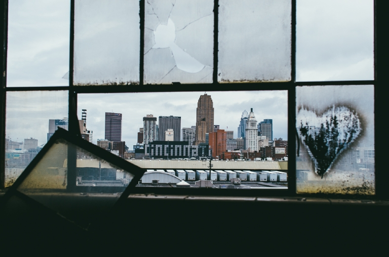 From Cincy with Love. Views from an old building I wasn't supposed to be in. March 14, 2015 / Image: Corey Stevens